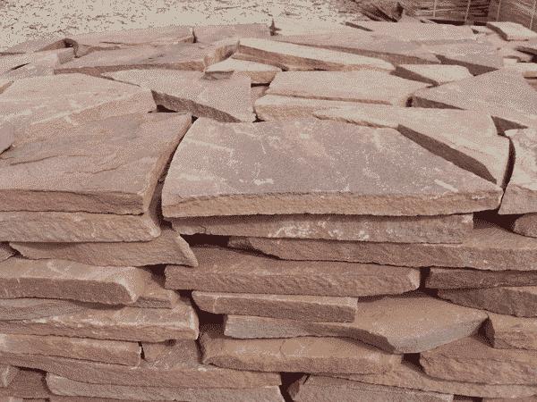 Плитняк Песчаник, терракотовый