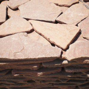 Песчаник галтованный терракотовый