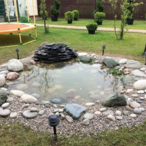 Природный камень в обустройстве водоемов