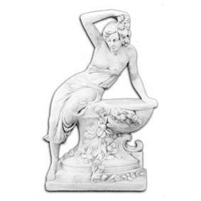 """Античная скульптура """"Девушка на вазе с цветами"""""""