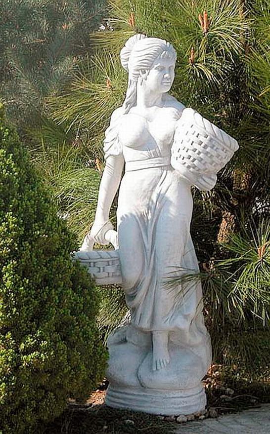 """Античная скульптура """"Девушка с двумя корзинами"""", высота 136 см"""