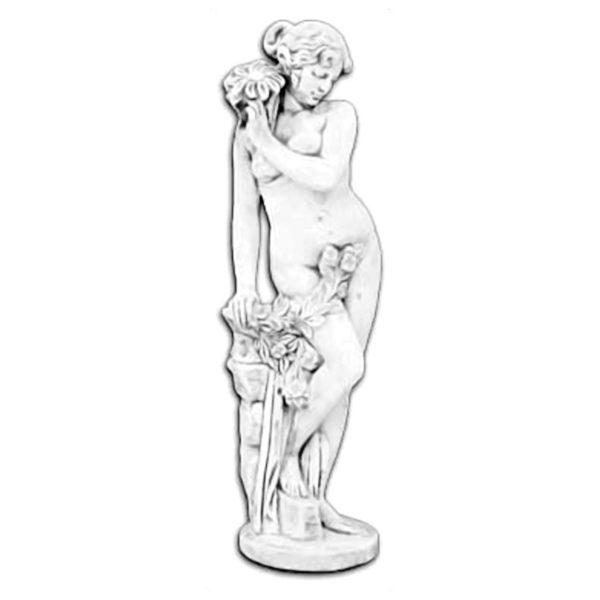 "Античная скульптура ""Обнаженная девушка с цветами"""