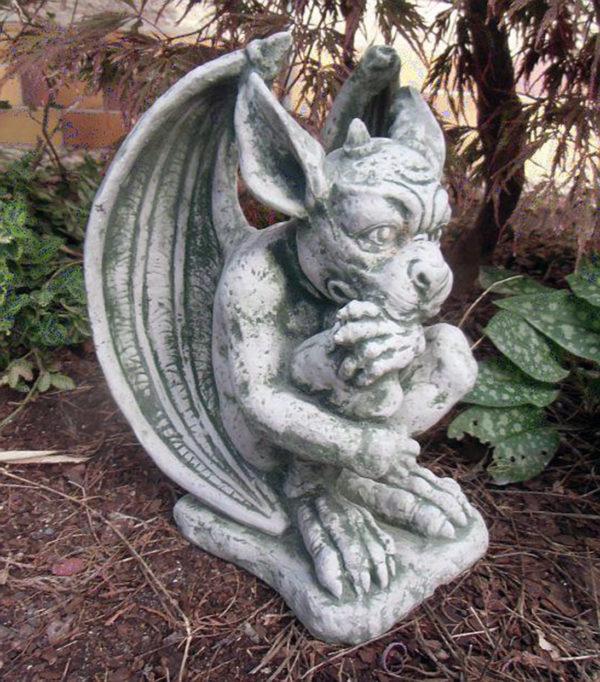 """Скульптура античная """"Задумчивая гаргулья"""""""