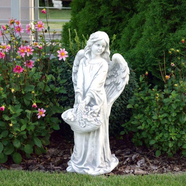 """Скульптура """"Ангел с корзиной цветов"""""""