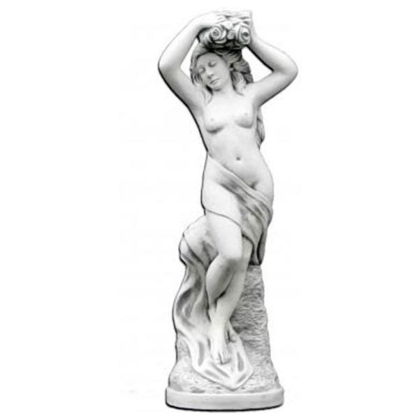 """Скульптура античная """"Девушка с цветами в волосах"""""""