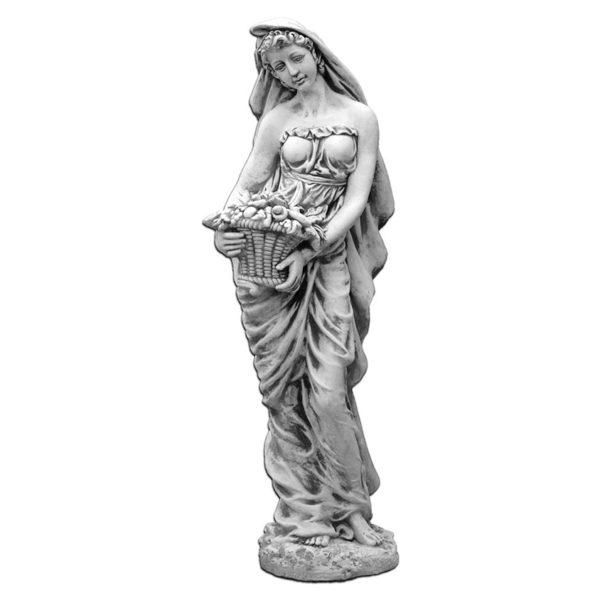 """Скульптура античная """"Девушка с корзиной фруктов"""""""