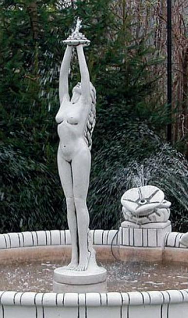 """Античная скульптура """"Девушка держит лилию над головой"""""""