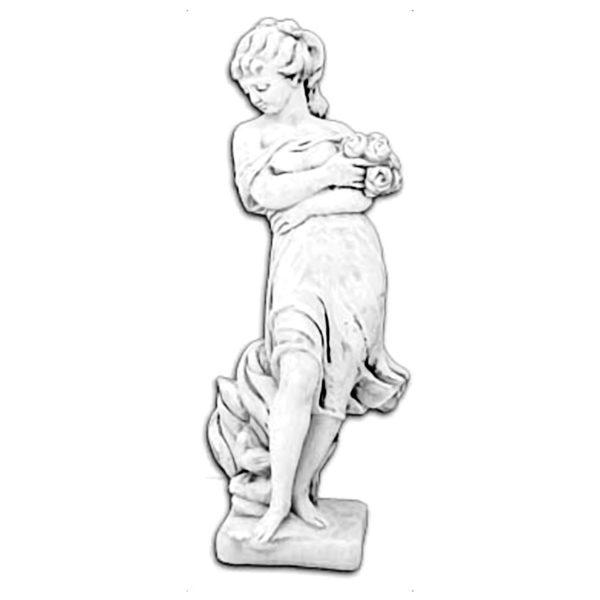 """Скульптура классическая """"Девушка с букетом цветов"""""""