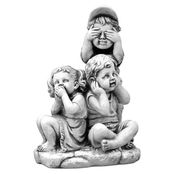 """Скульптура """"Ничего не вижу, ничего не слышу, ничего не скажу"""""""