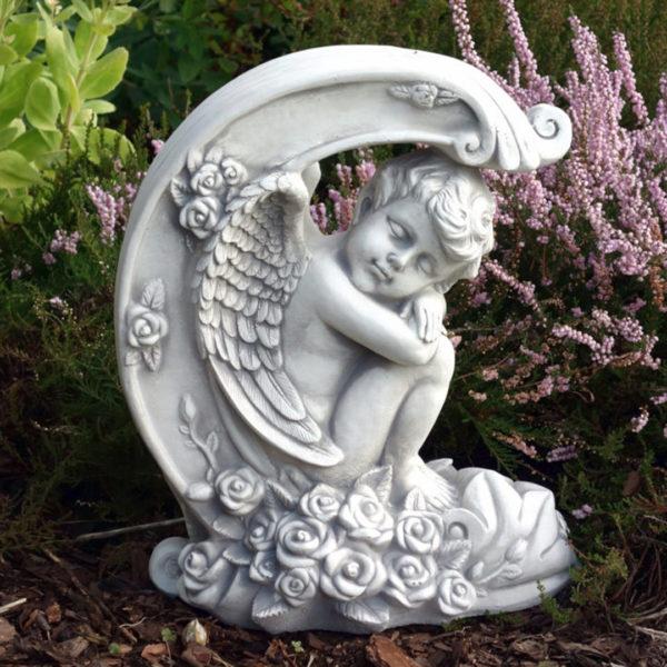 """Скульптура """"Спящий ангел на луне"""""""