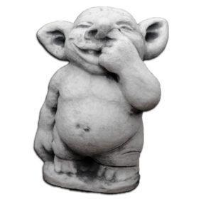 "Скульптура ""Тролль с пальцем в носу"""