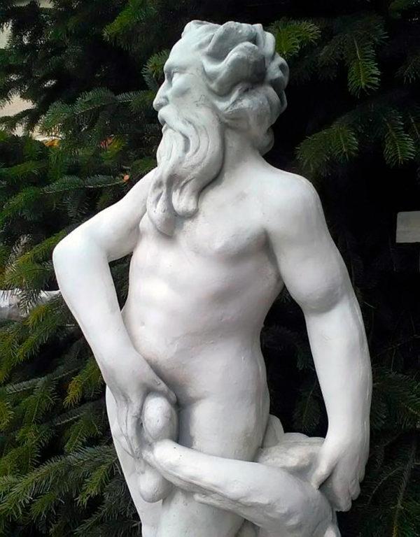 "Скульптура античная ""Нептун с рыбой"""